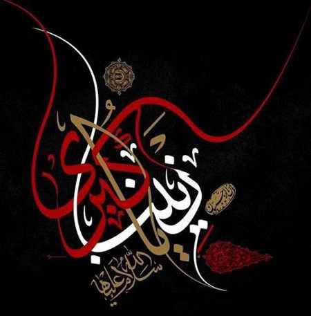 عکس نوشته حضرت زینب (س) در کربلا (3)