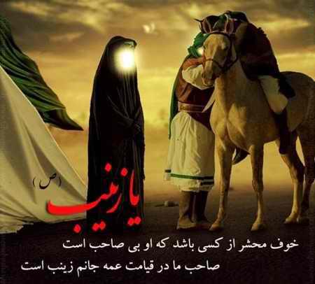 عکس نوشته حضرت زینب (س) در کربلا (6)