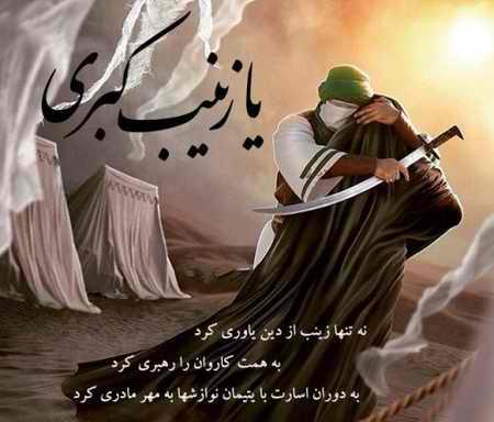 عکس نوشته حضرت زینب (س) در کربلا (8)
