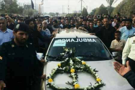 مراسم تشییع پیکر دانش آموزان حادثه داراب در بندرعباس (6)