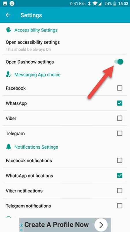 آموزش خواندن پیام های تلگرام و واتس اپ بدون سین شدن (2)