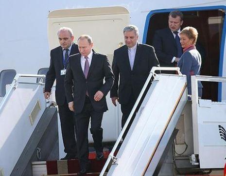 سفر پوتین رئیس جمهور روسیه به تهران سفر پوتین رئیس جمهور روسیه به تهران
