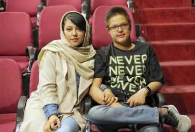عکس پریچهر قنبری همسر شهاب حسینی و پسرش