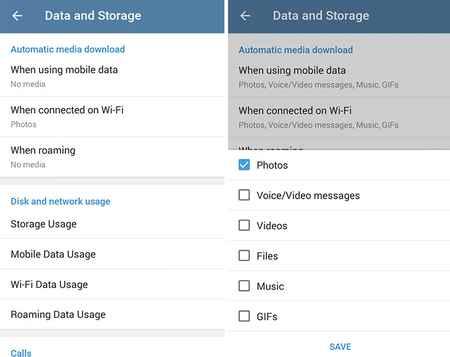کاهش مصرف حجم اینترنت تلگرام (2)