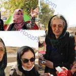 حضور بازیگران زن در میان زلزله زدگان کرمانشاه