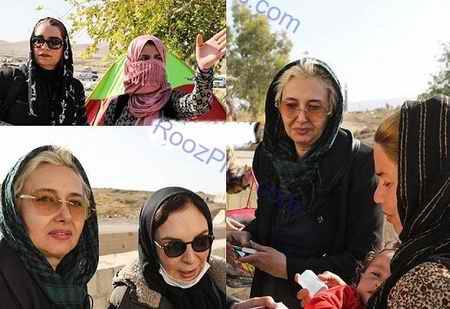 حضور بازیگران زن در میان زلزله زدگان کرمانشاه (2)