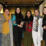 عکس های الهام پاوه نژاد در افتتاح نمایشگاه سعید رفیعی