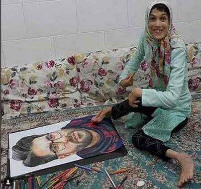 نقاشی حامد همایون اثر فاطمه حمامی بانوی هنرمند ایران