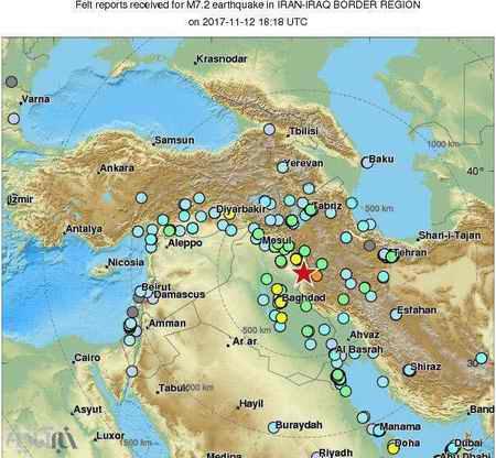 گستره مناطقی که زلزله آمد یکشنبه 21 آبان 96 گستره مناطقی که زلزله آمد (یکشنبه 21 آبان 96)