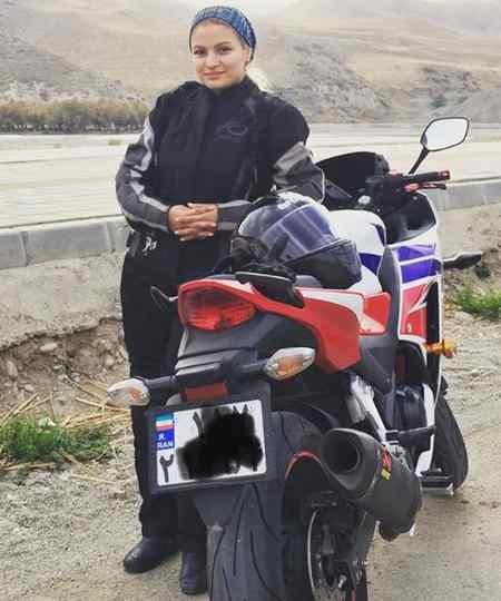 بیوگرافی بهناز شفیعی موتورسوار و همسرش (1)