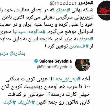 ماجرای توهین سالومه به محمد جواد ظریف 2 ماجرای توهین سالومه به محمد جواد ظریف