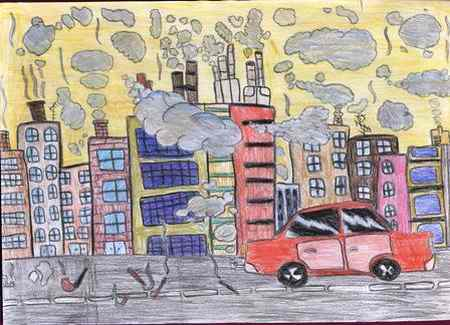 نقاشی در مورد آلودگی هوا (6)