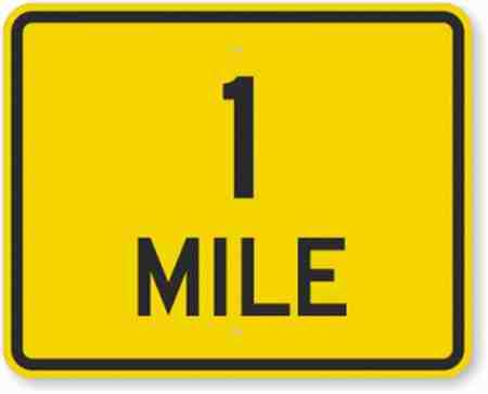 هر مایل چند کیلومتر است