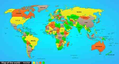 چرا نام اقیانوس آرام دوبار روی نقشه نوشته شده است