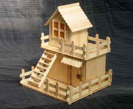 کاردستی با چوب بستنی ساده و خلاقانه (9)
