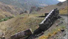 واژگونی قطار در ایستگاه دیزباد نیشابور