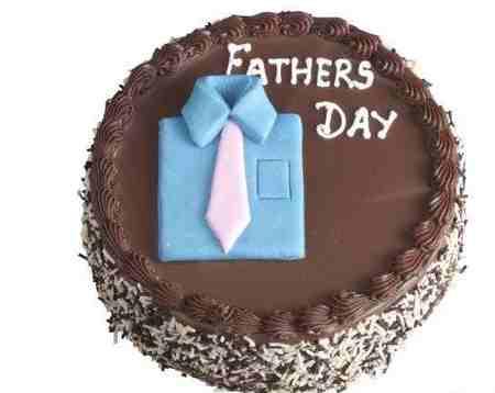 مدل کیک روز پدر شکلاتی و میوه ای 1 مدل کیک روز پدر شکلاتی و میوه ای