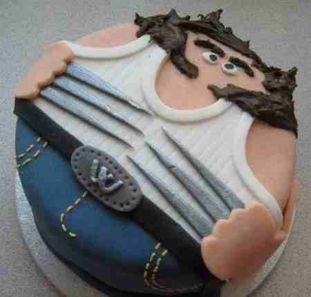 مدل کیک روز پدر شکلاتی و میوه ای (2)