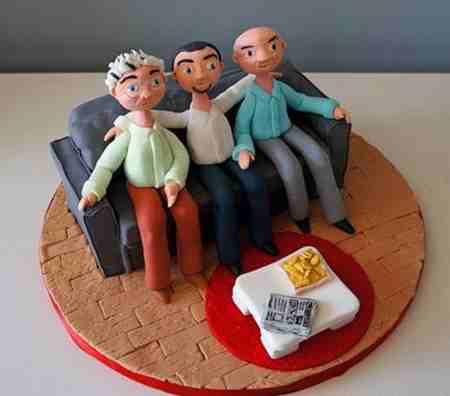 مدل کیک روز پدر شکلاتی و میوه ای (5)