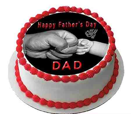 مدل کیک روز پدر شکلاتی و میوه ای (7)