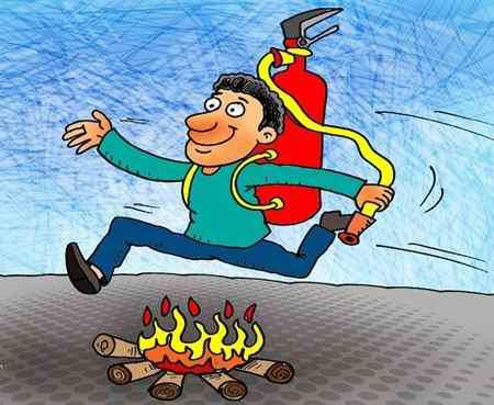 نقاشی در مورد چهارشنبه سوری طنز و کاریکاتور (3)
