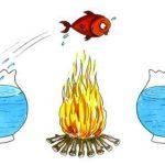 نقاشی در مورد چهارشنبه سوری طنز و کاریکاتور