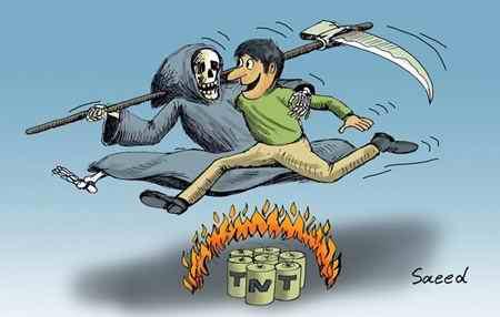 نقاشی در مورد چهارشنبه سوری طنز و کاریکاتور (9)