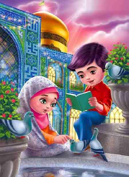 نقاشی کودکانه درمورد امام رضا ع 1 نقاشی کودکانه درمورد امام رضا (ع)