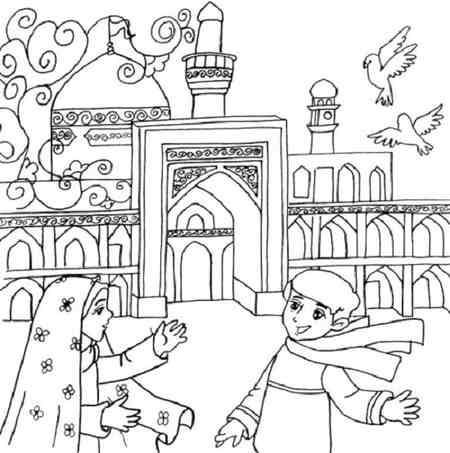 نقاشی کودکانه درمورد امام رضا ع 3 نقاشی کودکانه درمورد امام رضا (ع)