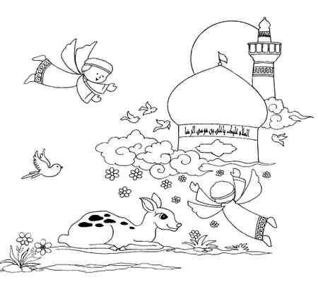 نقاشی کودکانه درمورد امام رضا ع 6 نقاشی کودکانه درمورد امام رضا (ع)