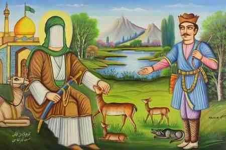 نقاشی کودکانه درمورد امام رضا ع 7 نقاشی کودکانه درمورد امام رضا (ع)