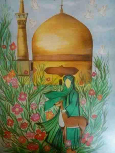 نقاشی کودکانه درمورد امام رضا ع 8 نقاشی کودکانه درمورد امام رضا (ع)