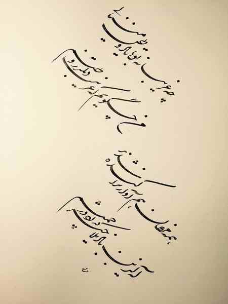 عکس نوشته شعر من چه گویم که غریب است دلم در وطنم (1)