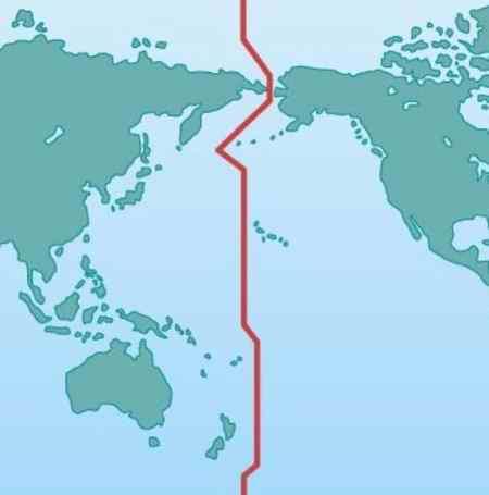چرا خط بین المللی زمان کج است چرا خط بین المللی زمان کج است
