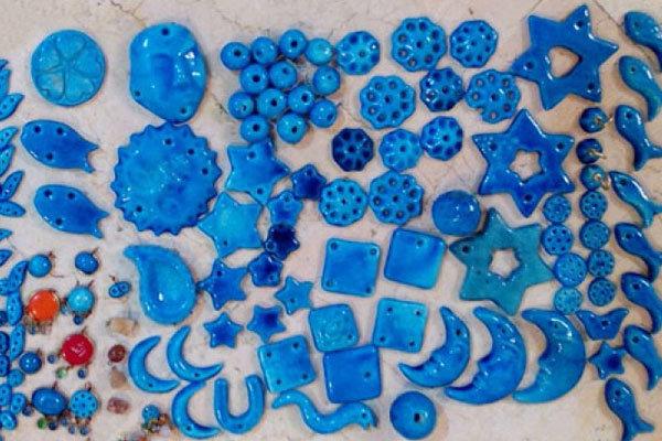 خرمهره های دست ساز تزئینی سوغات قم