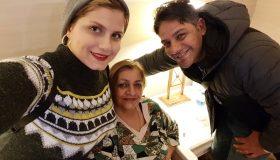 عکس آیدا پوریانسب و همسر و مادر شوهرش
