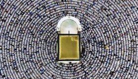 عکس از نماز در کعبه