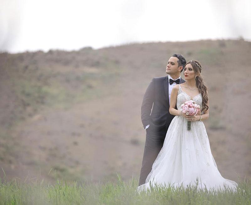 صدف بیوتی و همسرش