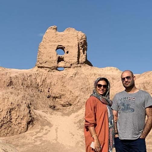 خوشگذرونی های حدیثه تهرانی همسرش/ عکس