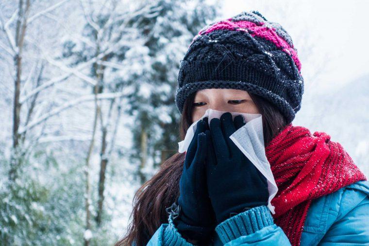 آبریزش بینی در هوای سرد