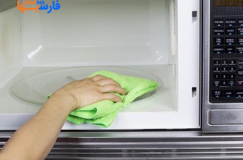 روش های تمیز کردن مایکروویو