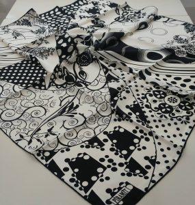 طرح های زیبا برای روسری شاد عیدانه