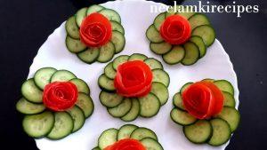 Decorate the salad