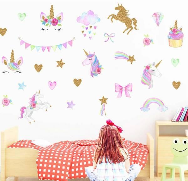 تزیین دیوار اتاق کودک دختر