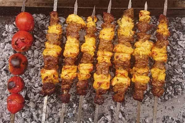 پخت کباب بختیاری