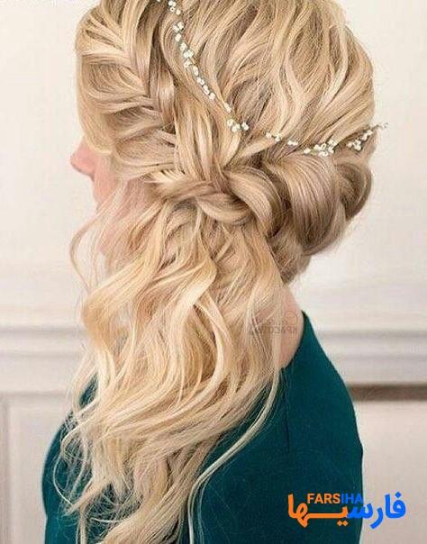 شنیون های ساده و زیبا برای موهای بلند