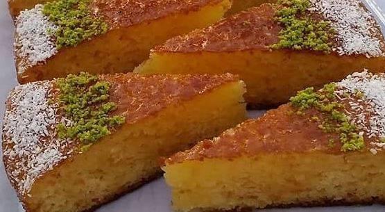 کیک خیس پرتقالی