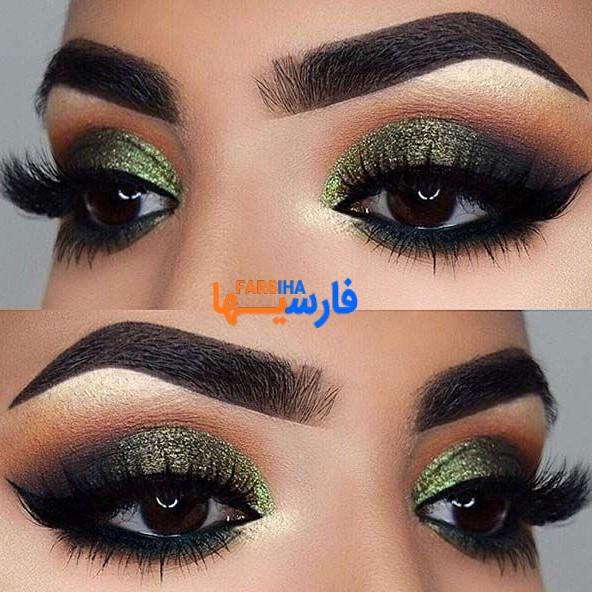 آرایش چشم با تم سبز ، زیبا و جذاب