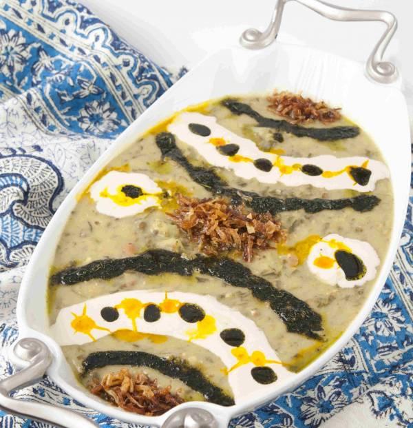 پخت آش خیار چنبر