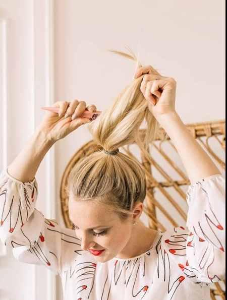 آموزش بستن مدل مو گوجه ای (2)